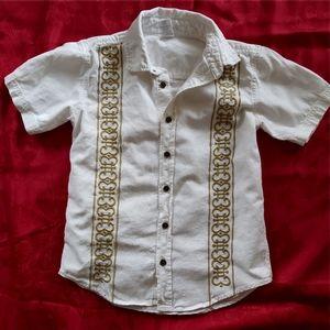 Gymboree embroidered shirt boys